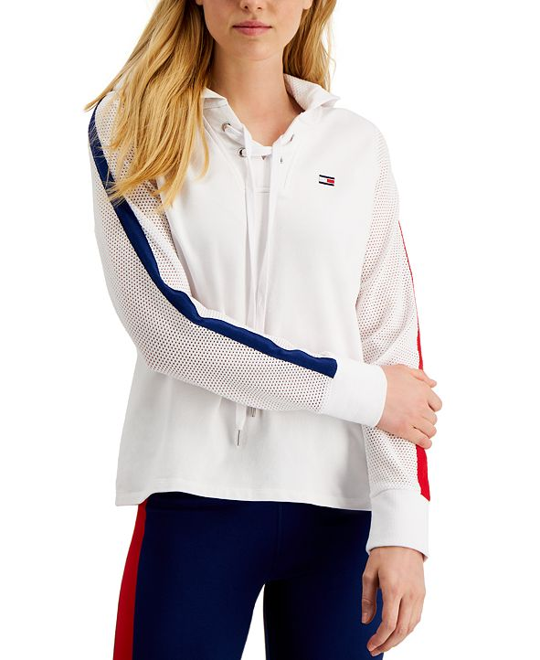 Tommy Hilfiger Lace-Up Hoodie