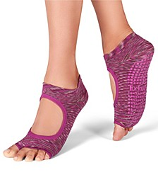 Women's Open Toe Grip Sock for Pilates Barre Yoga Allegro