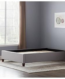 Upholstered Platform Bed with Slats, King