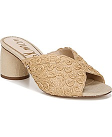 Women's Sareen Raffia Slide Sandals
