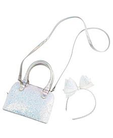 Silver Glitter Purse & Headband