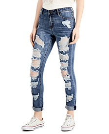 Juniors' Distressed Slim-Fit Jeans