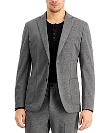 Men's Extreme Slim-Fit Stretch Gray Suit Jacket