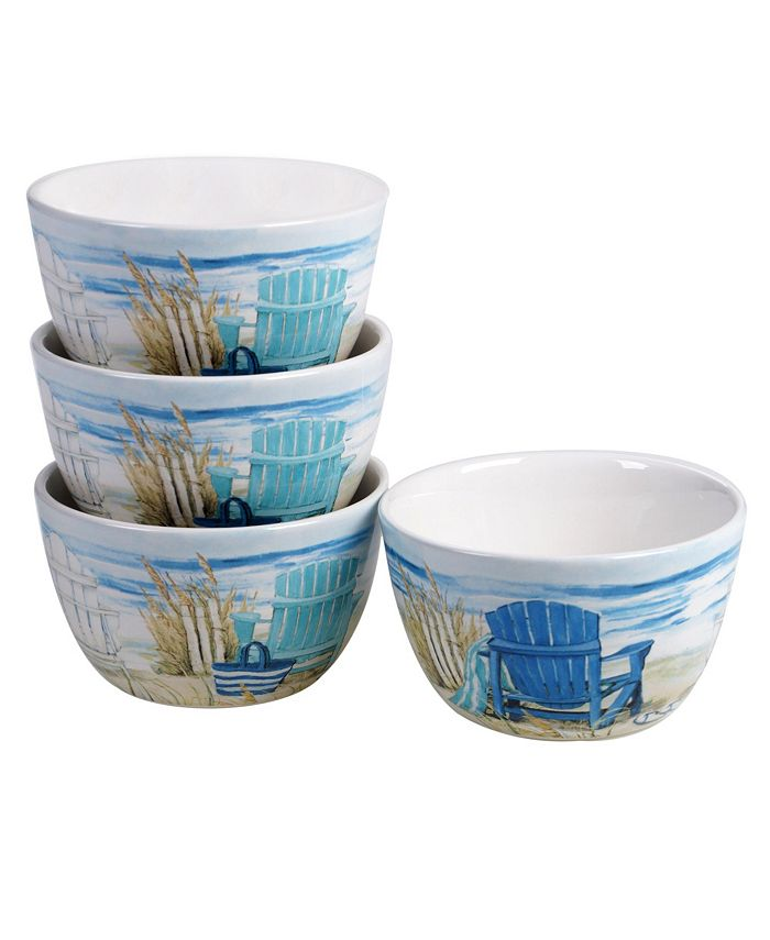Tracy Porter - By the Sea 4-Pc. Ice Cream Bowls