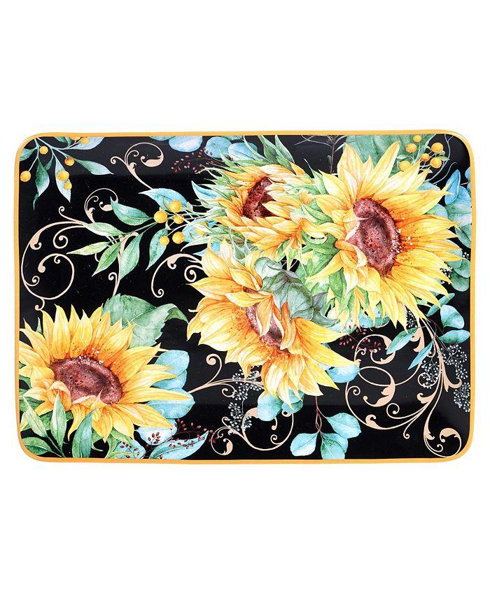 Certified International - Sunflower Fields Rectangular Platter
