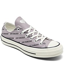 Women's Chuck Taylor 70 Love Fearlessly Low Top Casual Sneakers from Finish Line