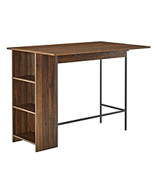 "48"" Counter Height Drop Leaf Table with Storage"