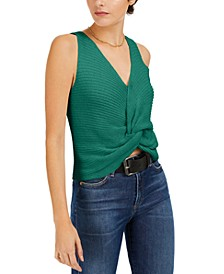 Twist-Front Sleeveless Sweater, Created for Macy's