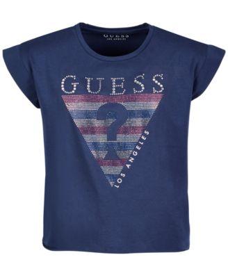 Big Girls Rhinestone Logo T-Shirt