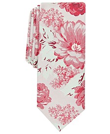 Men's Kenneth Skinny Floral Tie, Created for Macy's
