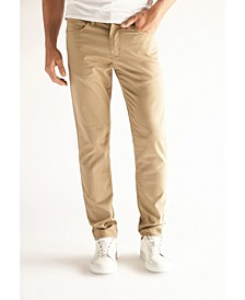 Men's Slim Fit Performance Stretch Denim Jeans, Tan Wash