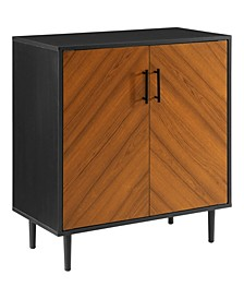 "28"" Modern Book Match Accent Cabinet"