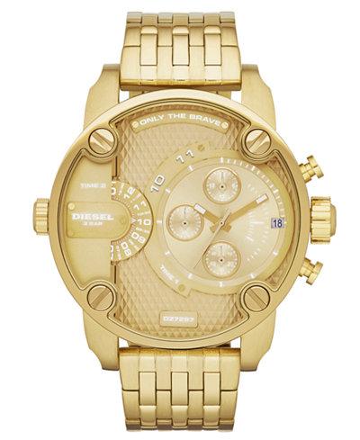 diesel watch men s gold tone stainless steel bracelet 51mm dz7287 diesel watch men s gold tone stainless steel bracelet 51mm dz7287