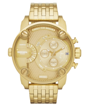 Diesel Watch, Men's Gold-Tone Stainless Steel Bracelet 51mm DZ7287