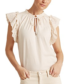 Ruffled Cotton Top