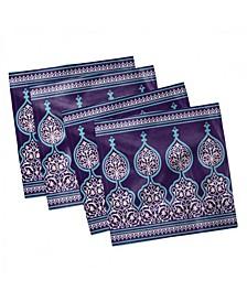 "Moroccan Set of 4 Napkins, 12"" x 12"""
