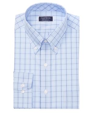 Men's Classic/Regular Fit Stretch Double Tattersall Dress Shirt