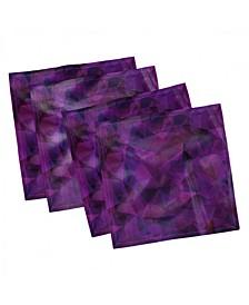 """Fractal Form Set of 4 Napkins, 12"""" x 12"""""""