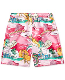 Big Boys Captiva Lobster Swim Trunks