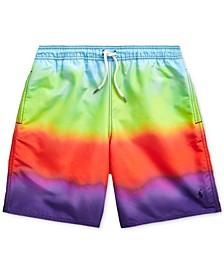 Big Boys Captiva Rainbow Swim Trunks