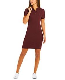 Slim-Fit Stretch Piqué Polo Dress