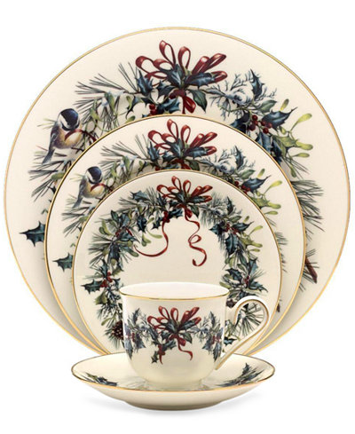 Lenox winter greetings 5 piece place setting fine china macys lenox winter greetings 5 piece place setting m4hsunfo
