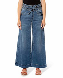 High Rise Wide Leg Denim