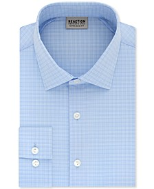 Men's Extra-Slim Fit Non-Iron Stretch Check Dress Shirt