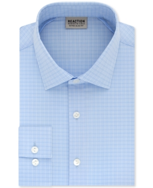 Kenneth Cole Reaction Men's Extra-Slim Fit Non-Iron Stretch Check Dress Shirt