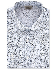 Men's Extra-Slim Fit Non-Iron Performance Stretch Speckled Print Dress Shirt