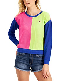 Mesh Colorblocked Sweatshirt