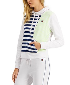 Striped Colorblocked Hoodie
