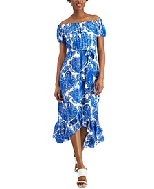 Off-The-Shoulder A-Line Dress, Created for Macy's