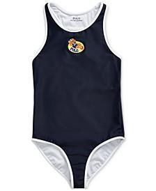 폴로 랄프로렌 걸즈 수영복 Polo Ralph Lauren Big Girls Swim Bear One-Piece Swimsuit,Hunter Navy