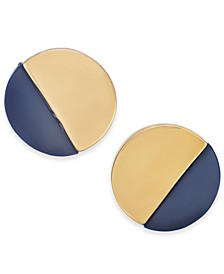 Acrylic Round Button Earrings, Created for Macy's