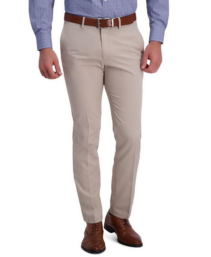 Kenneth Cole Reaction - Men's Slim-Fit Technicole Stretch Flex Waistband Dress Pants