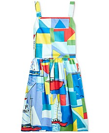 Big Girls Sailboat-Print Cotton Dress