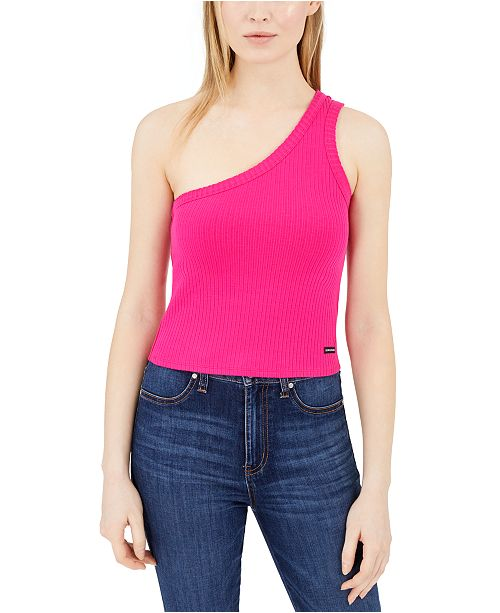 Calvin Klein Jeans One-Shoulder Tank Top