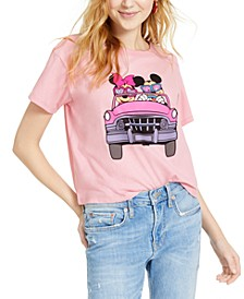 Juniors' Mickey & Minnie Mouse Graphic T-Shirt