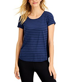 Plus Size Shadow Stripe T-Shirt, Created for Macy's