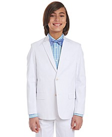 Big Boys Stretch White Twill Suit Jacket