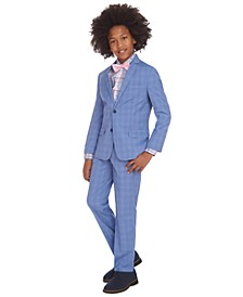 Big Boys Stretch Glen Plaid Suit Separates