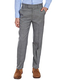 Big Boys Stretch Gray Windowpane Sharkskin Suit Pants