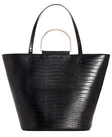 INC Kourtneyy Croco-Embossed Tulip Tote, Created for Macy's