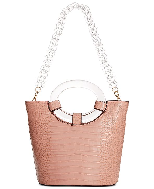 INC International Concepts INC Tracyy Croco-Embossed Bucket Bag, Created for Macy's