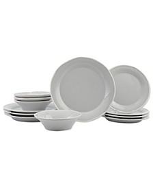 Chroma Light Gray 12-PC Dinnerware Set, Service for 4