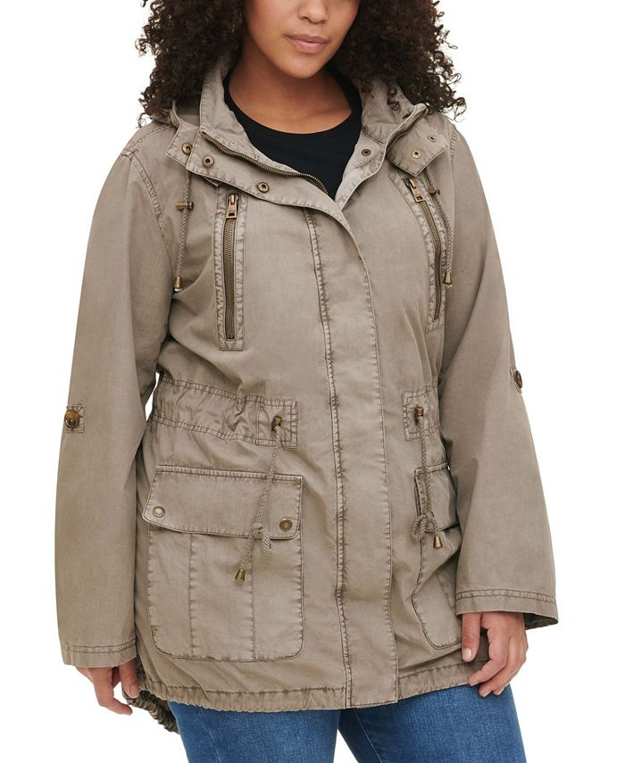 Levi's - Trendy Plus Size Hooded Fishtail Jacket