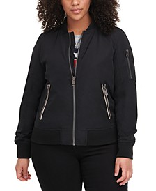 Trendy Plus Size  Melanie Bomber Jacket