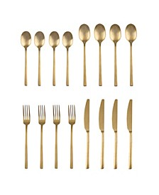 Beacon Gold Satin 16-Piece Flatware Set, Service for 4