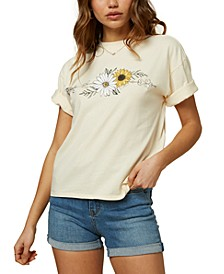 Juniors' Garden Arrow Cotton Graphic T-Shirt
